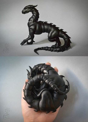 This Sweet Dragon is Made Entirely From Ball Joints!