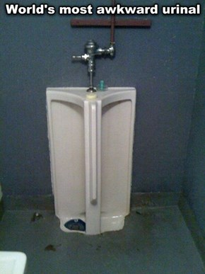 Just Try Not to Be Awkward at This Urinal
