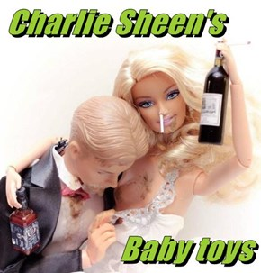 Charlie Sheen's                     Baby toys