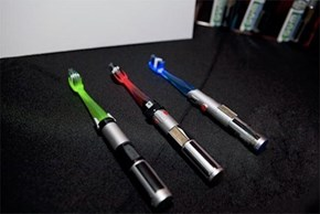 Battle Darth Plaque With This Awesome Lightsaber Toothbrush!