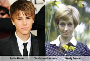 Justin Bieber Totally Looks Like Sandy Duncan