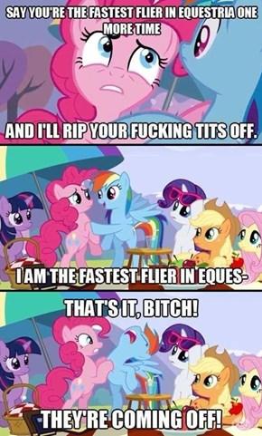 Fastest flier in equestria....