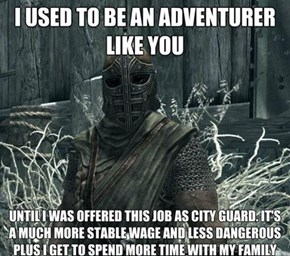 The True Life of a Skyrim Guard