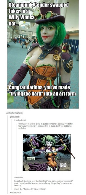 Guy Tries to Call Out Fake Geek Girl and Gets Destroyed