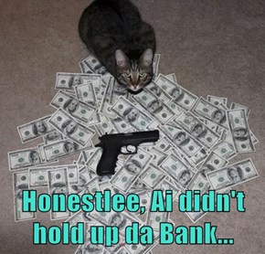 Honestlee, Ai didn't hold up da Bank...