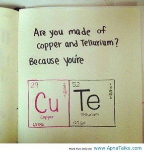GOOD PICK-UP LINE!