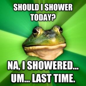 A True Bachelor Frog