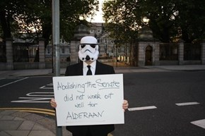 This Irish Protester Knows What Happens When the Senate Collapses