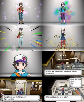 Different Character Customization in Pokemon X & Y