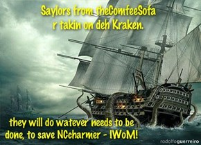 Phase one - Deh Saylors attack deh Kraken 'n his Minions