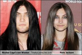 Nicolas Cage's son Weston Totally Looks Like Paris Jackson