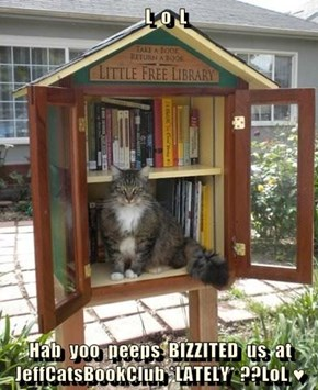 L  o  L  Hab  yoo  peeps  BIZZITED  us  at  JeffCatsBookClub *LATELY* ??LoL ♥