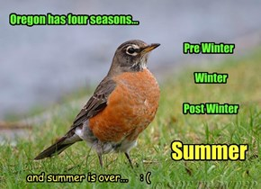 Oregon has four seasons...