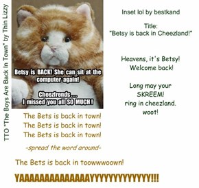 """Welcome back, betskand/Betsy! (TTO """"The Boys Are Back In Town"""" by Thin Lizzy)"""