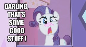 Rarity Cuts Hers With Frosting