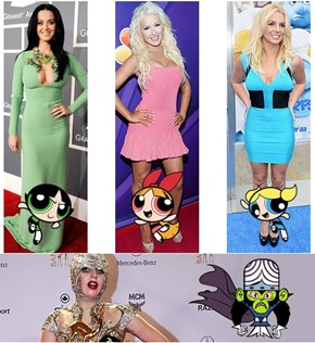 Powerpuff Girls and Pop Princesses