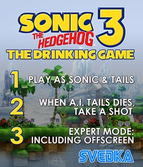 This Sonic 3 Drinking Game is Devastating