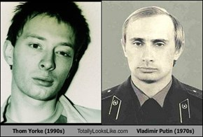 Thom Yorke (1990s) Totally Looks Like Vladimir Putin (1970s)