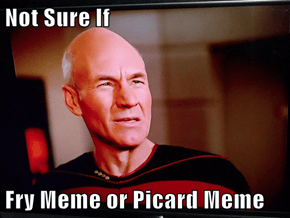 Not Sure If  Fry Meme or Picard Meme