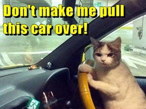 Don't make me pull this car over!