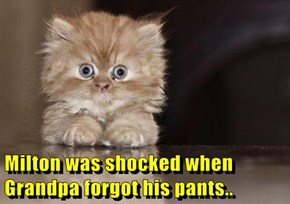 Milton was shocked when Grandpa forgot his pants..