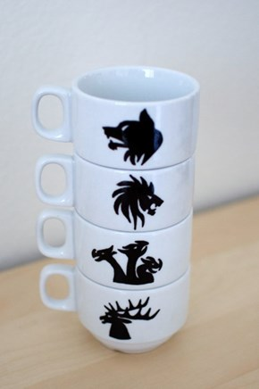 Represent Your House With These Stacking Game of Thrones Mugs