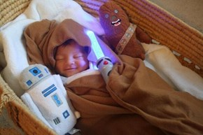 This Little Youngling's Gonna Grow Up to be an Amazing Jedi