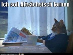 Ich soll Altsächsisch lernen