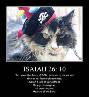 ISAIAH 26: 10