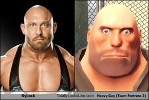 Ryback Totally Looks Like Heavy Guy (Team Fortress 2)