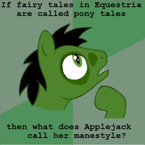 It works for her tail but not her mane