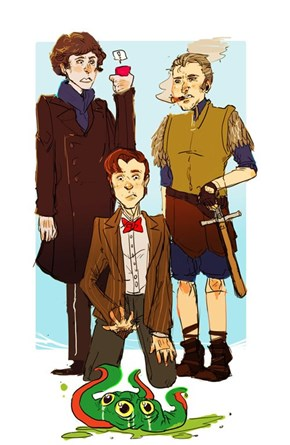 The Doctor, Sherlock, and Sam Vimes