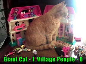 Giant Cat - 1  Village People - 0