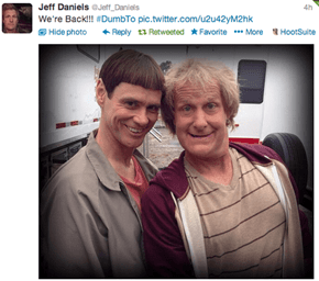 From The Set of Dumb and Dumber To