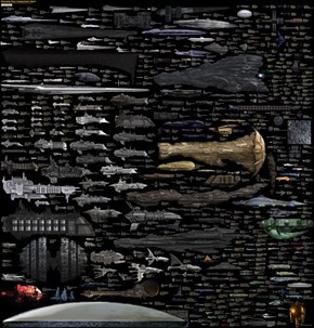Infographic of the Day: The Most Comprehensive Size Comparison of  Science-Fictional Spaceships Yet