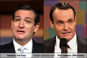 Senator Ted Cruz Totally Looks Like Tim Calhoun (Will Forte)