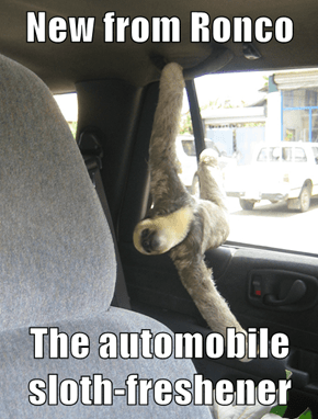 New from Ronco  The automobile sloth-freshener