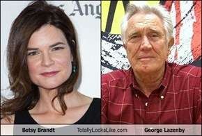 Betsy Brandt Totally Looks Like George Lazenby