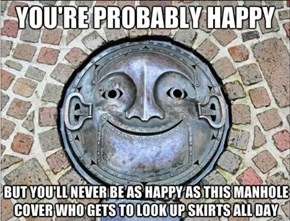 The World's Happiest Manhole Cover