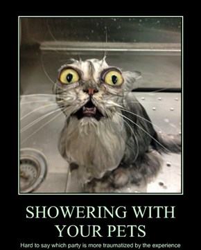 SHOWERING WITH YOUR PETS