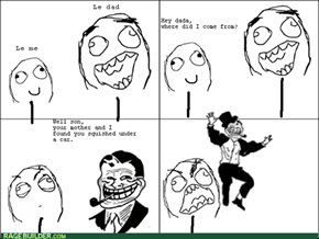Troll dad strikes again!