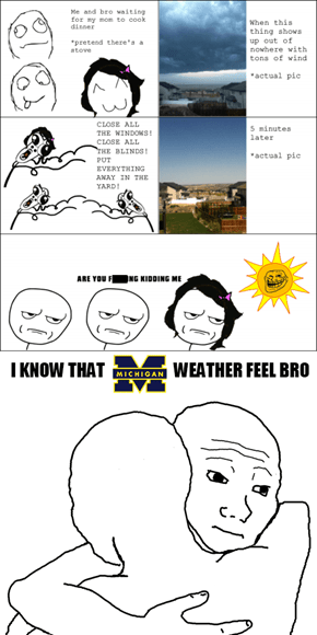 Michigan Weather is Rough