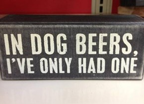 funny, dog, beer, quote,