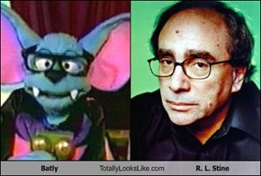 Batly Totally Looks Like R. L. Stine