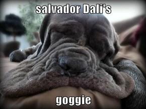 salvador Dali's  goggie