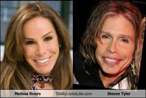 Melissa Rivers Totally Looks Like Steven Tyler