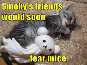 Smoky's friends would soon        fear mice.