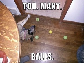 TOO. MANY.  BALLS.