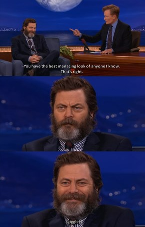 Nick Offerman is a Teddy Bear