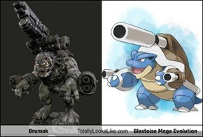 Brumak Totally Looks Like Blastoise Megaa Evolution